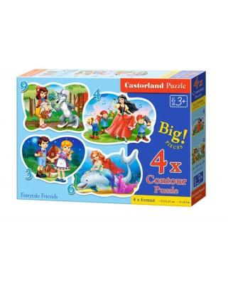Puzzle Castorland - Fairytale Friends, 3/4/6/9 piese XXL (5062)