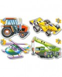 Puzzle Castorland - Different Vehicles, 4/5/6/7 piese (4263)