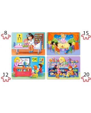 Puzzle Castorland - I Like My Job, 8/12/15/20 piese XXL (41022)