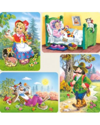 Puzzle Castorland - Little Red Riding Hood, 8/12/15/20 piese (4294)