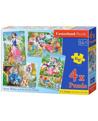 Puzzle Castorland - Snow White And The Seven Dwarfs, 8/12/15/20 piese (B-04423)