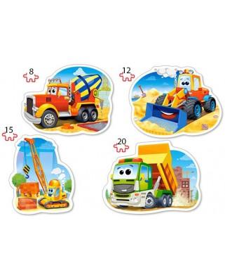 Puzzle Castorland - Vehicule De Constructii, 8/12/15/20 piese XXL (43040)