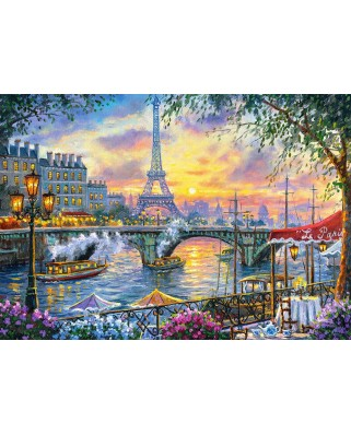 Puzzle Castorland - Tea time in Paris, 500 piese (53018)