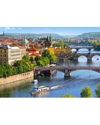 Puzzle Castorland - View of Bridges in Prague, 500 piese (53087)