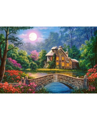 Puzzle Castorland - Cottage in the Moon Garden, 1000 piese (104208)