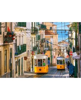 Puzzle Castorland - Lisbon Trams Portugal, 1.000 piese (104260)