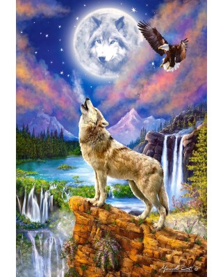 Puzzle Castorland - Wolf's Night, 1500 piese (151806)