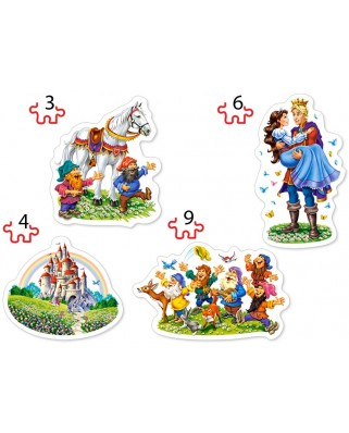 Puzzle Castorland - Snow White Story, 3/4/6/9 piese XXL (005109)