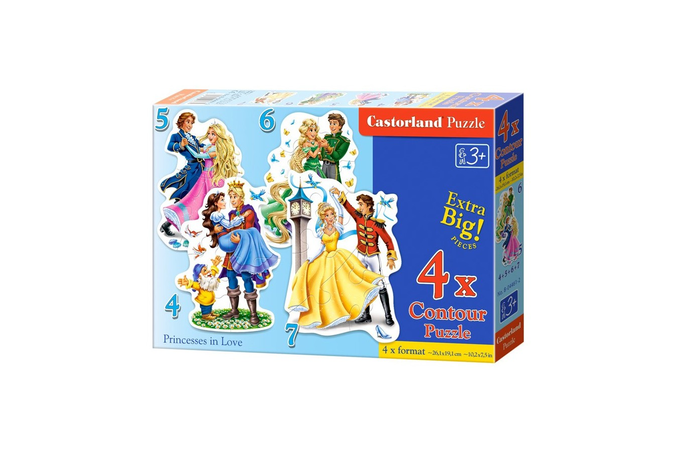 Puzzle Castorland - Princesses in love, 4/5/6/7 piese XXL (04461)