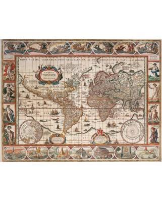 Puzzle Ravensburger - Harta Lumii 1650, 2.000 piese (16633)