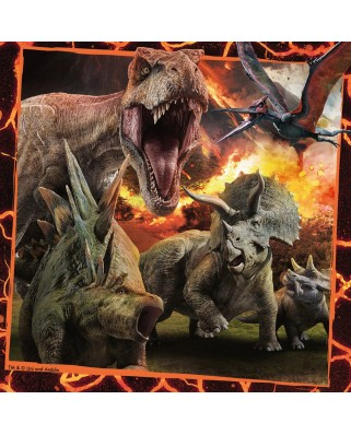Puzzle Ravensburger - Jurassic World, 3x49 piese (08054)