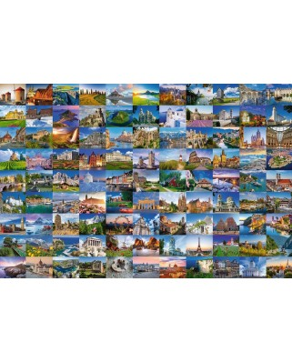 Puzzle Ravensburger - 99 Beautiful Places In Europe, 3.000 piese (Ravensburger-17080)
