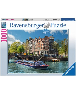 Puzzle Ravensburger - Turul Canalului In Amsterdam, 1.000 piese (19138)
