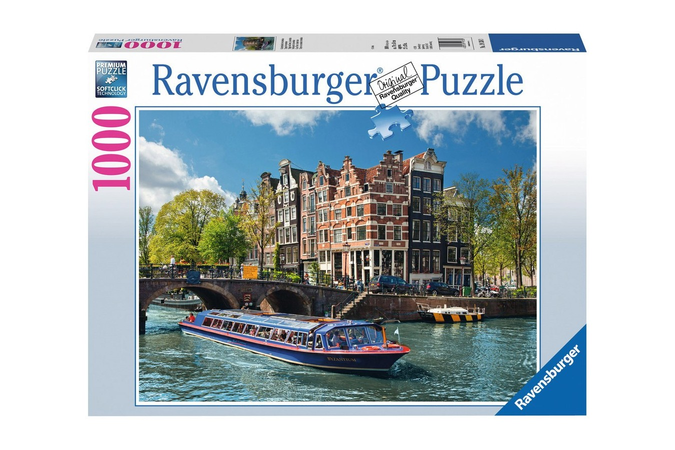 Puzzle Ravensburger - Turul Canalului In Amsterdam, 1000 piese (19138)