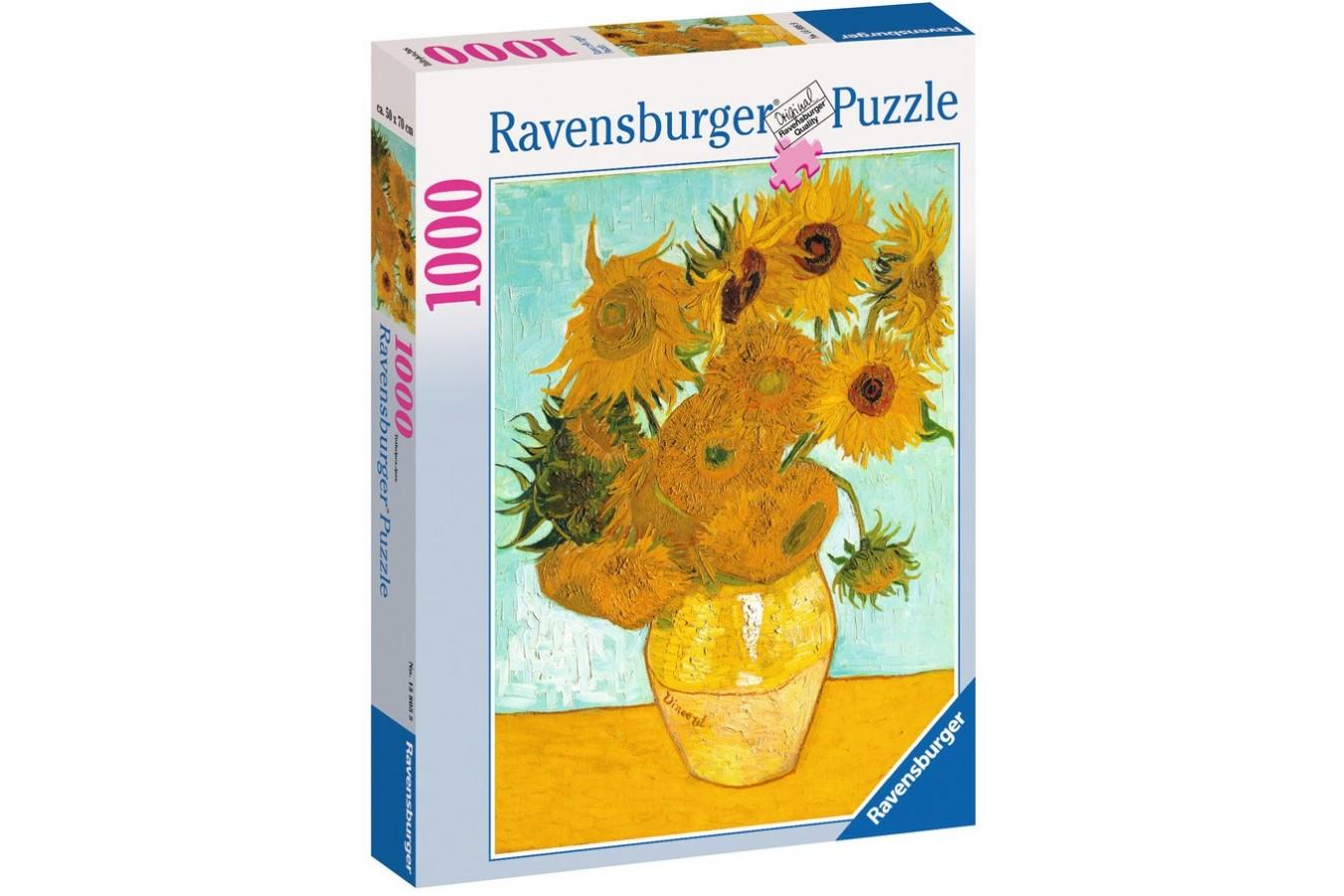 Puzzle Ravensburger - Vincent Van Gogh: Van Gogh - Vaza Cu Flori, 1.000 piese (15805)