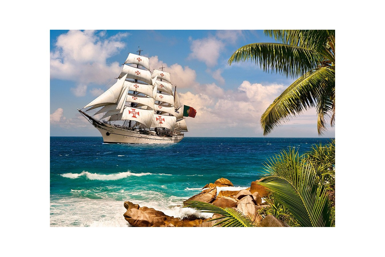Puzzle Castorland - Sailing in the Tropics, 1000 piese