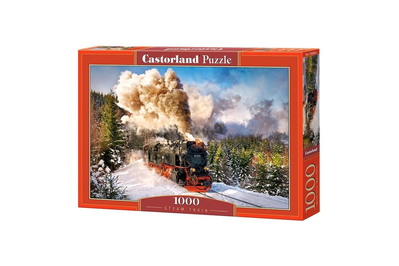 Puzzle Castorland - Steam Train, 1000 piese