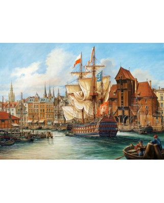 Puzzle Castorland - The Old Gdansk, 1000 piese