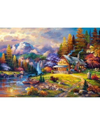 Puzzle Castorland - Mountain Hideaway, 1500 piese