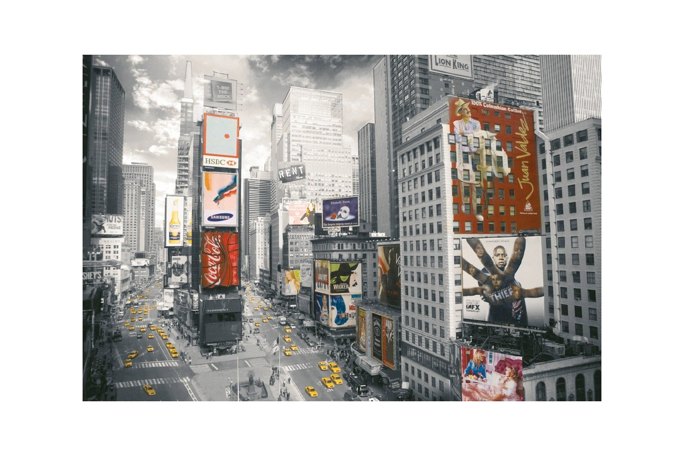 Puzzle Ravensburger - Vedere Din Times Square, 500 piese (14504)