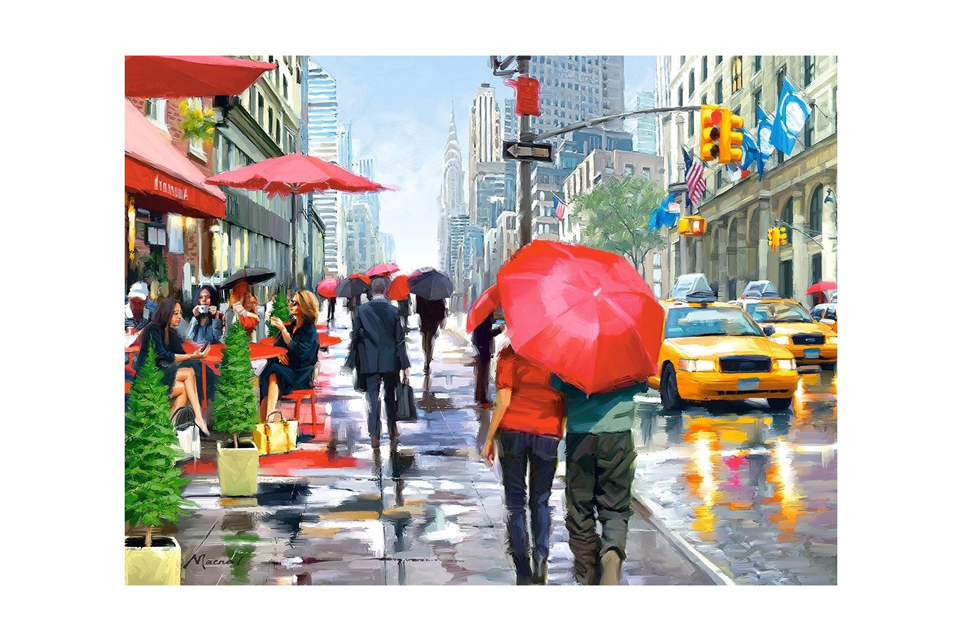Puzzle Castorland - New York Cafe, 2000 piese