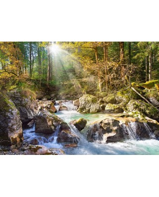 Puzzle Castorland - Sunny Forest Sream, 2000 piese