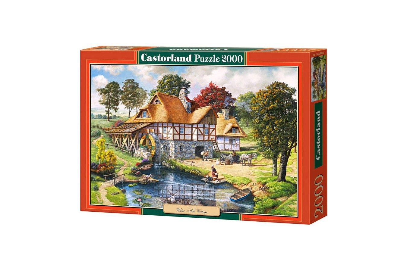Puzzle Castorland - Water Mill Cotage, 2000 piese