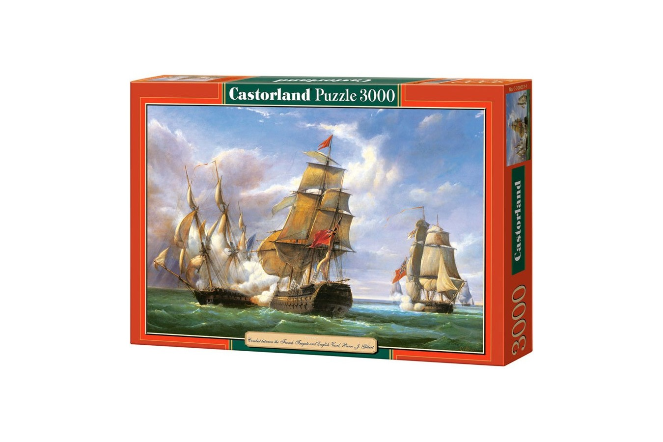 Puzzle Castorland - Copy of Combat between the French and the English Vessels, 3000 piese