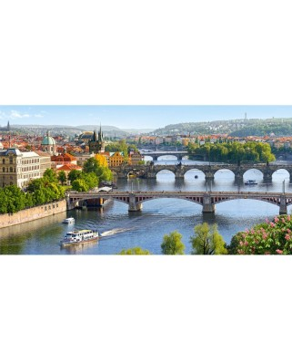 Puzzle Castorland - Vltava Bridges in Prague, 4000 piese