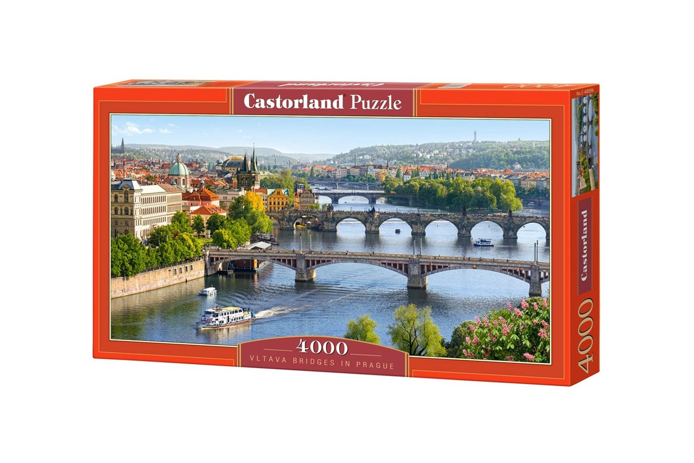 Puzzle Castorland - Vltava Bridges in Prague, 4000 piese