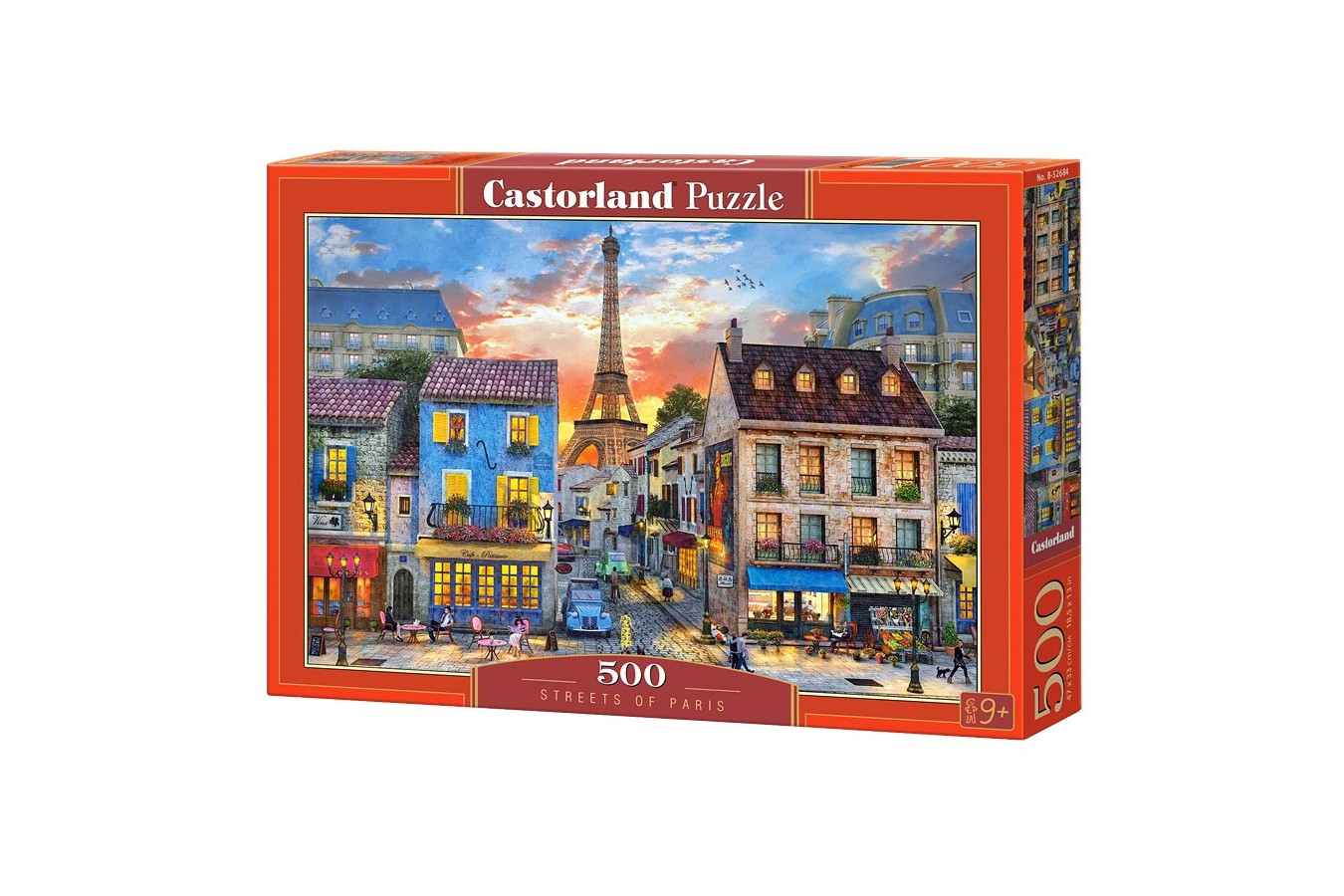 Puzzle Castorland - Streets Of Paris, 500 Piese