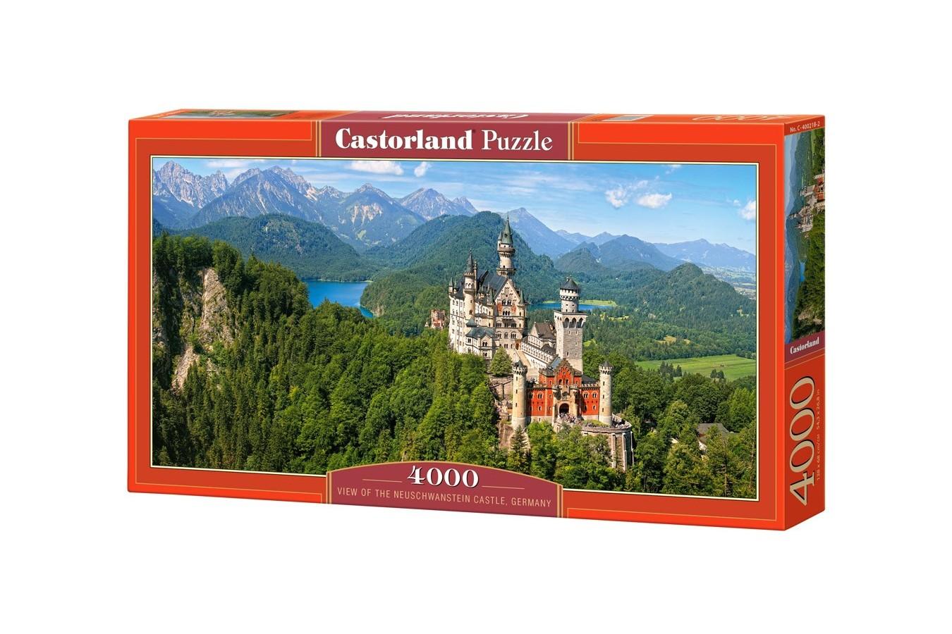 Puzzle Castorland - View Of Neuschwanstein, 4000 Piese