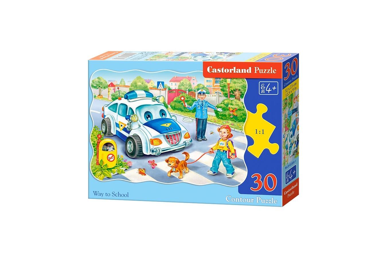 Puzzle Castorland - Way to School, 30 piese