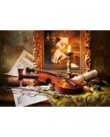 Puzzle Castorland - Still life with violin and painting, 1000 piese