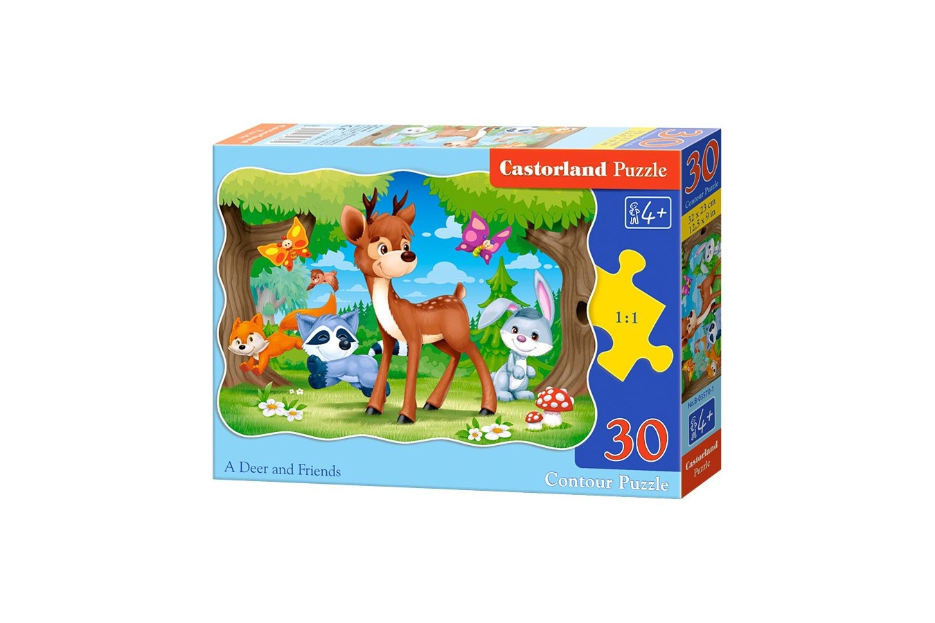 Puzzle Castorland - A deer and friends, 30 piese