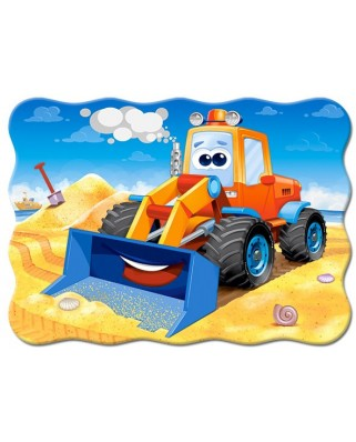 Puzzle Castorland - Funny Buldozer, 30 piese