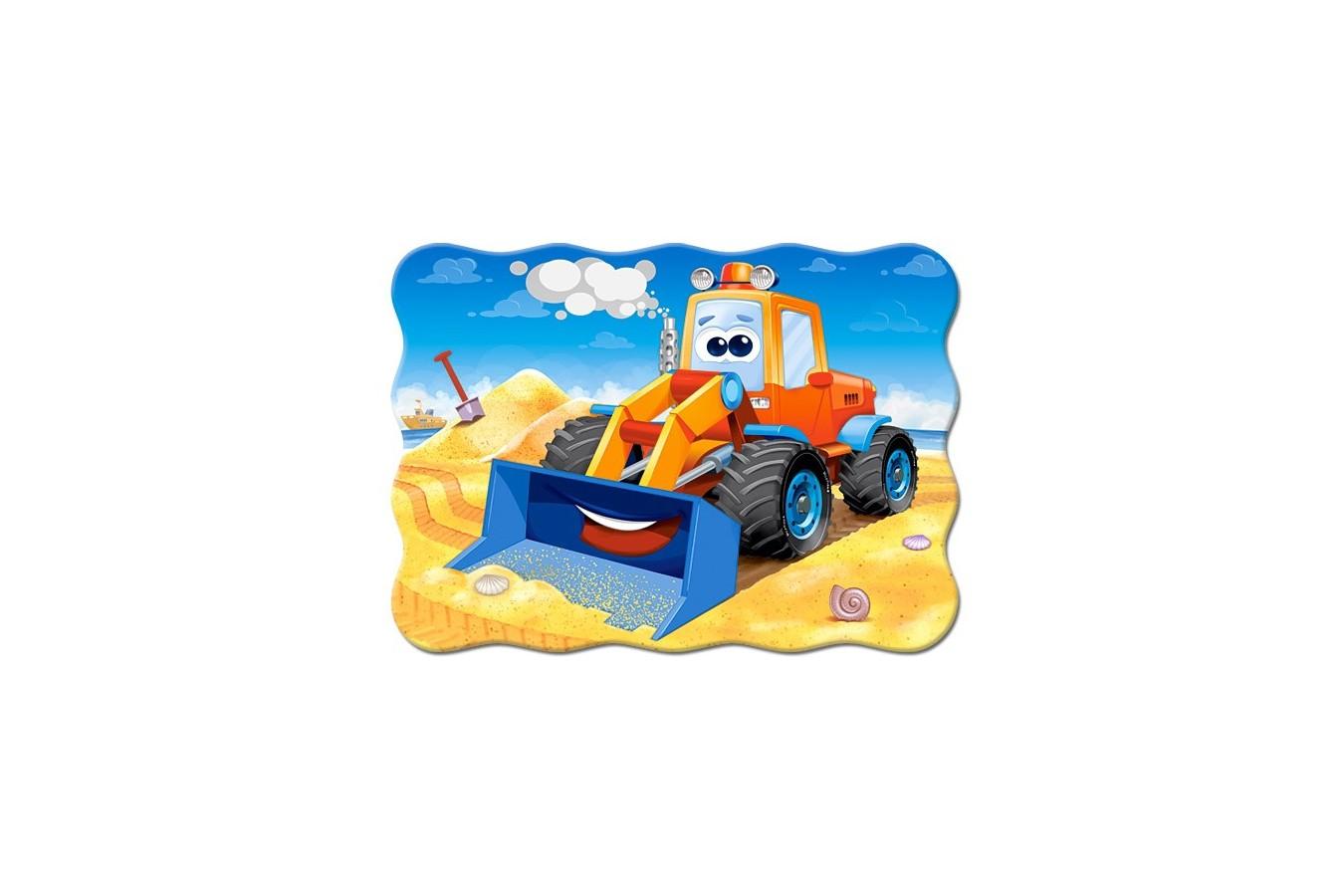 Puzzle Castorland - Funny Buldozer, 30 piese