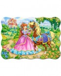 Puzzle Castorland - Princess and her Horse, 30 piese