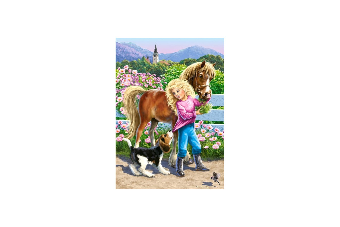 Puzzle Castorland - A Walk With Pony and Dog, 60 piese