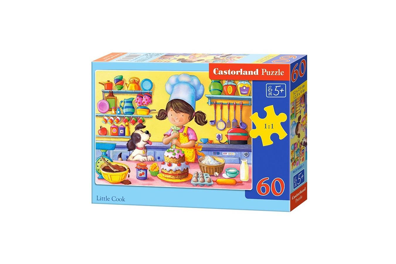Puzzle Castorland - Little Cook, 60 piese