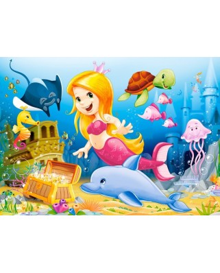 Puzzle Castorland - Little Mermaid, 60 piese
