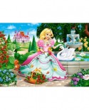 Puzzle Castorland - Princess with Swan, 60 piese