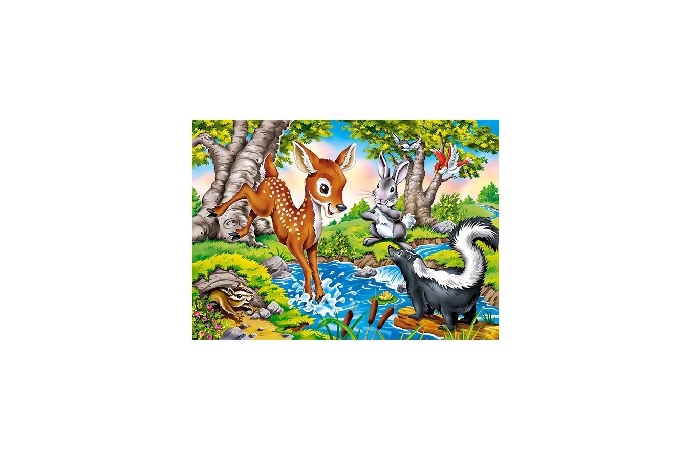 Puzzle Castorland - Forest Animals, 260 piese