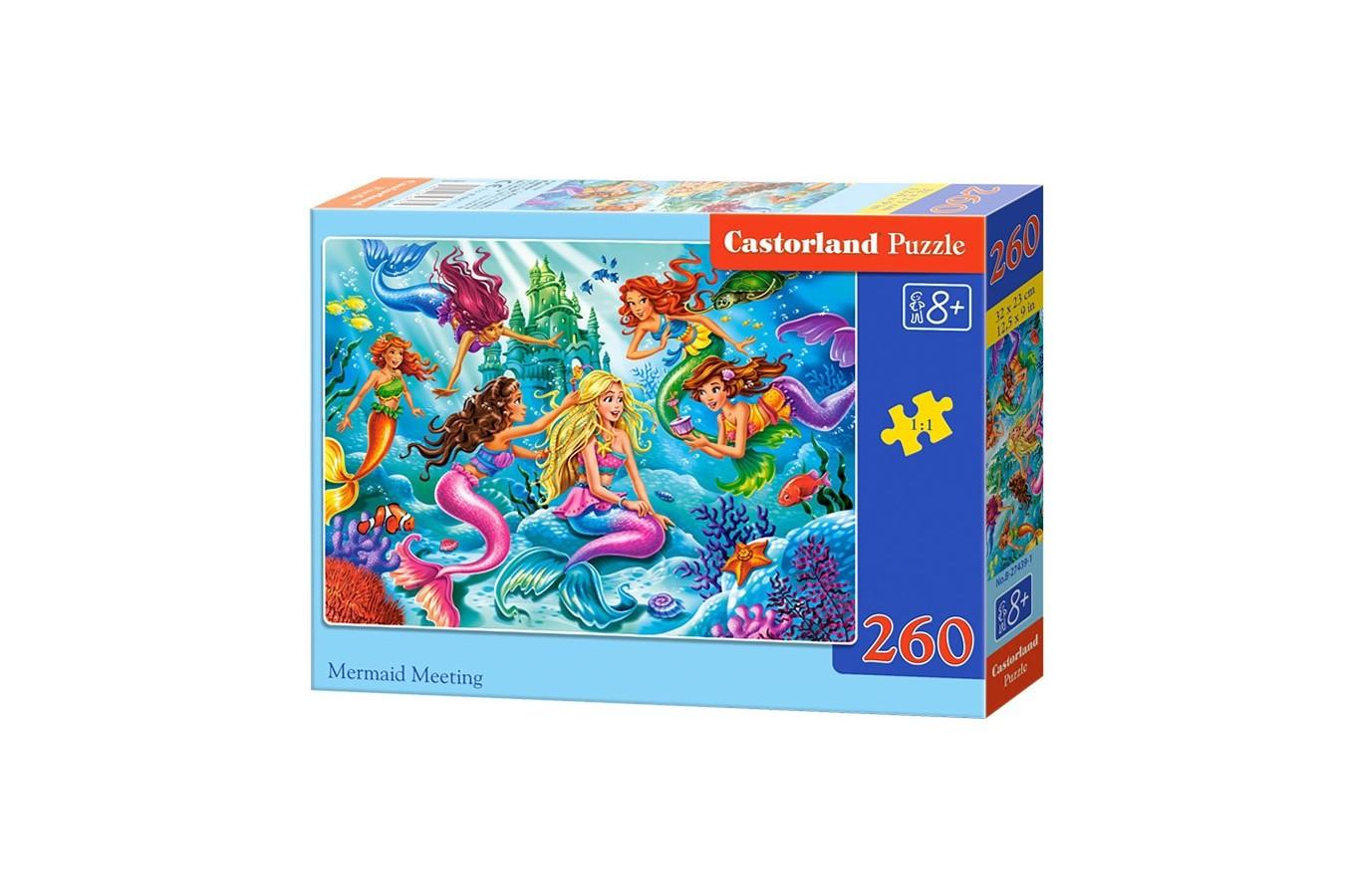 Puzzle Castorland - Mermaid Meeting, 260 piese