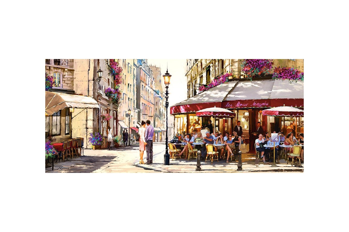 Puzzle Panoramic Castorland - Lovers in Paris, 600 piese