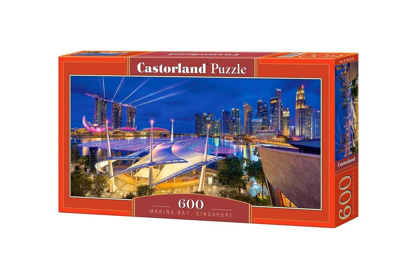 Puzzle Panoramic Castorland - Marina Bay, Singapore, 600 piese