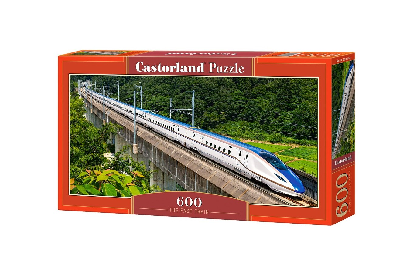 Puzzle Panoramic Castorland - The Fast Train, 600 piese