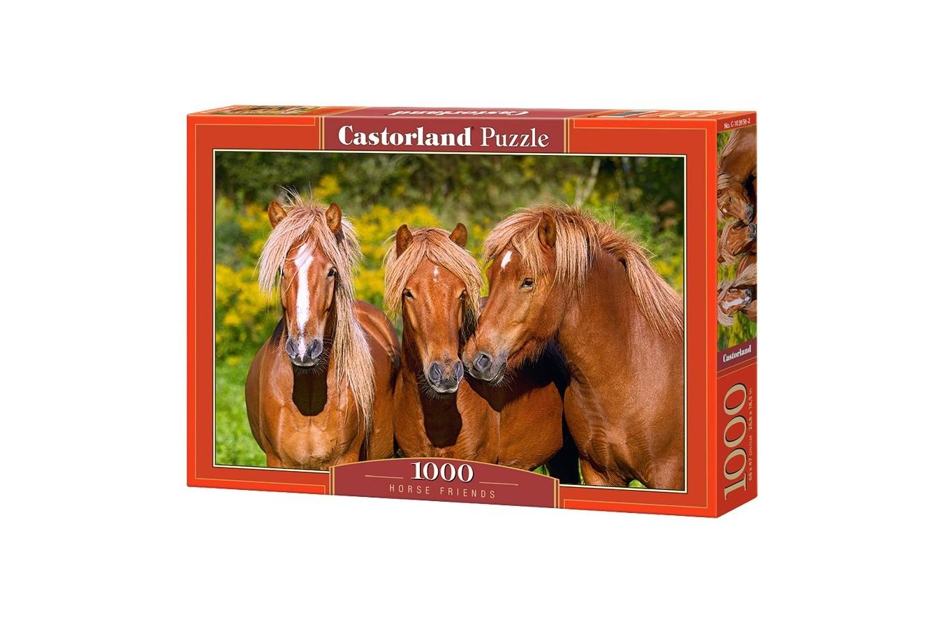 Puzzle Castorland - Horse Friends, 1000 piese