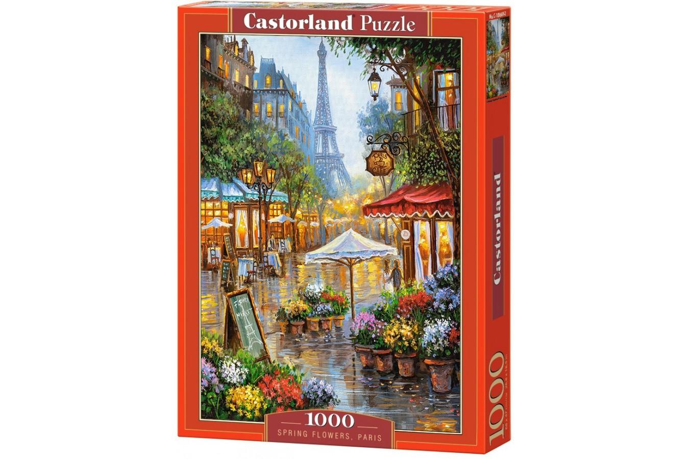 Puzzle Castorland - Spring Flowers Paris, 1000 piese