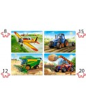 Puzzle 4 in 1 Castorland - Agricultural Machines, 8/12/15/20 piese